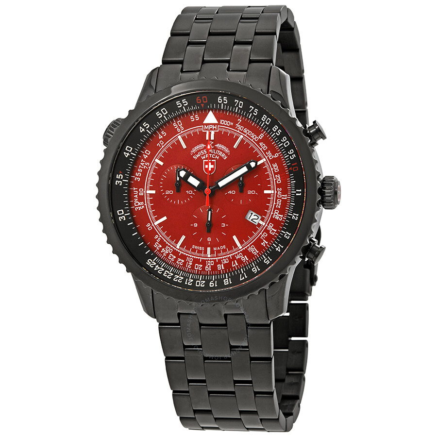 aaa1db1cc Swiss Military Thunderbolt Red Dial Men's Chronograph Watch 2958 ...
