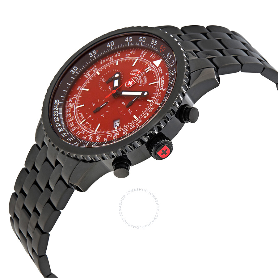 1639ba421 ... Swiss Military Thunderbolt Red Dial Men's Chronograph Watch 2958 ...