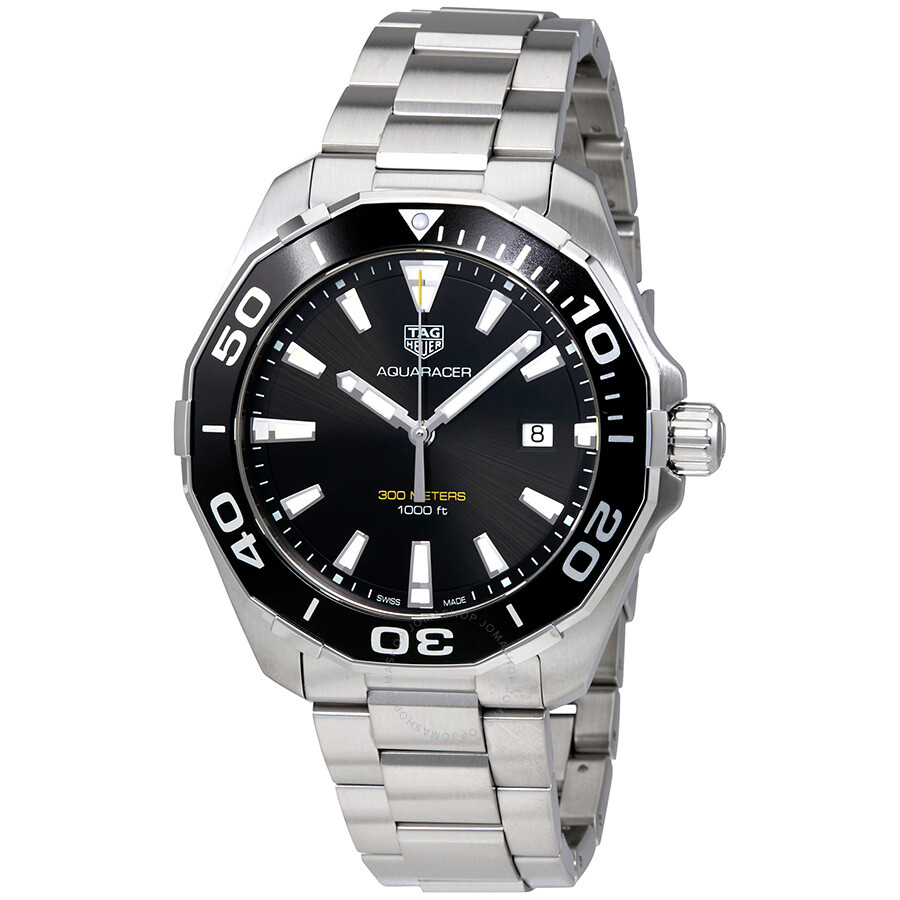Tag heuer aquaracer 300m quartz black dial men 39 s watch way101a ba0746 aquaracer tag heuer for The tag heuer aquaracer