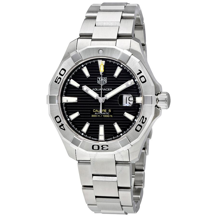 6b174d8b1d2 Tag Heuer Aquaracer Automatic Black Dial Men's Watch WAY2010.BA0927 ...