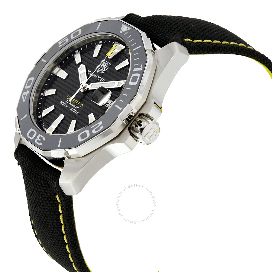 Tag heuer aquaracer automatic black dial men 39 s watch way211a fc6362 aquaracer tag heuer for Tag heuer automatic