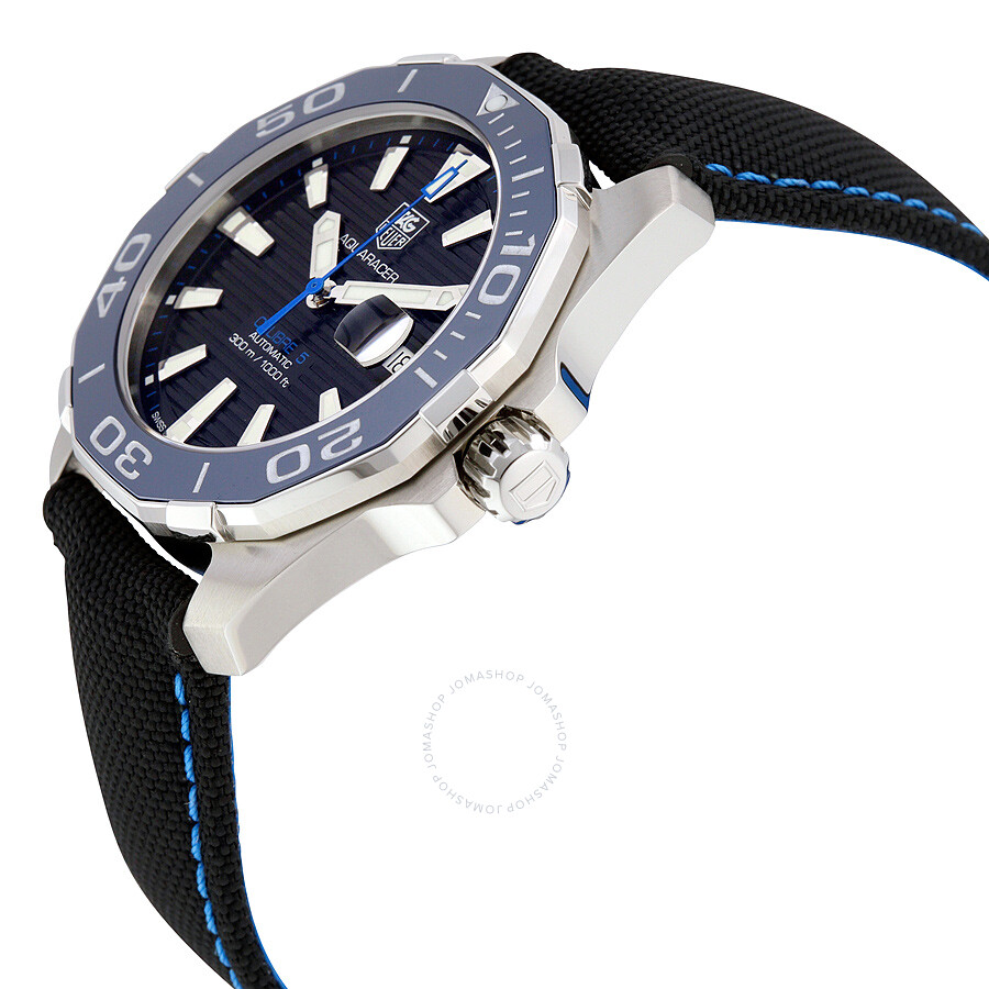 Tag heuer aquaracer automatic black dial men 39 s watch way211b fc6363 aquaracer tag heuer for Tag heuer automatic