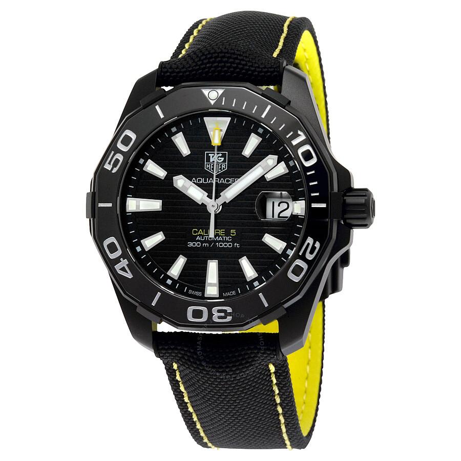 8404d1d377d9 Tag Heuer Aquaracer Automatic Black Dial Men s Watch WAY218A.FC6362 ...