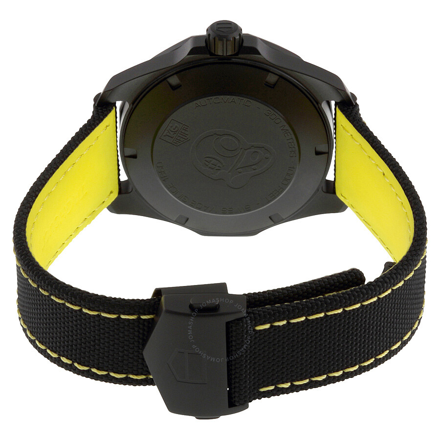 7e58cd94d99f FC6362 Tag Heuer Aquaracer Automatic Black Dial Men s Watch WAY218A.FC6362