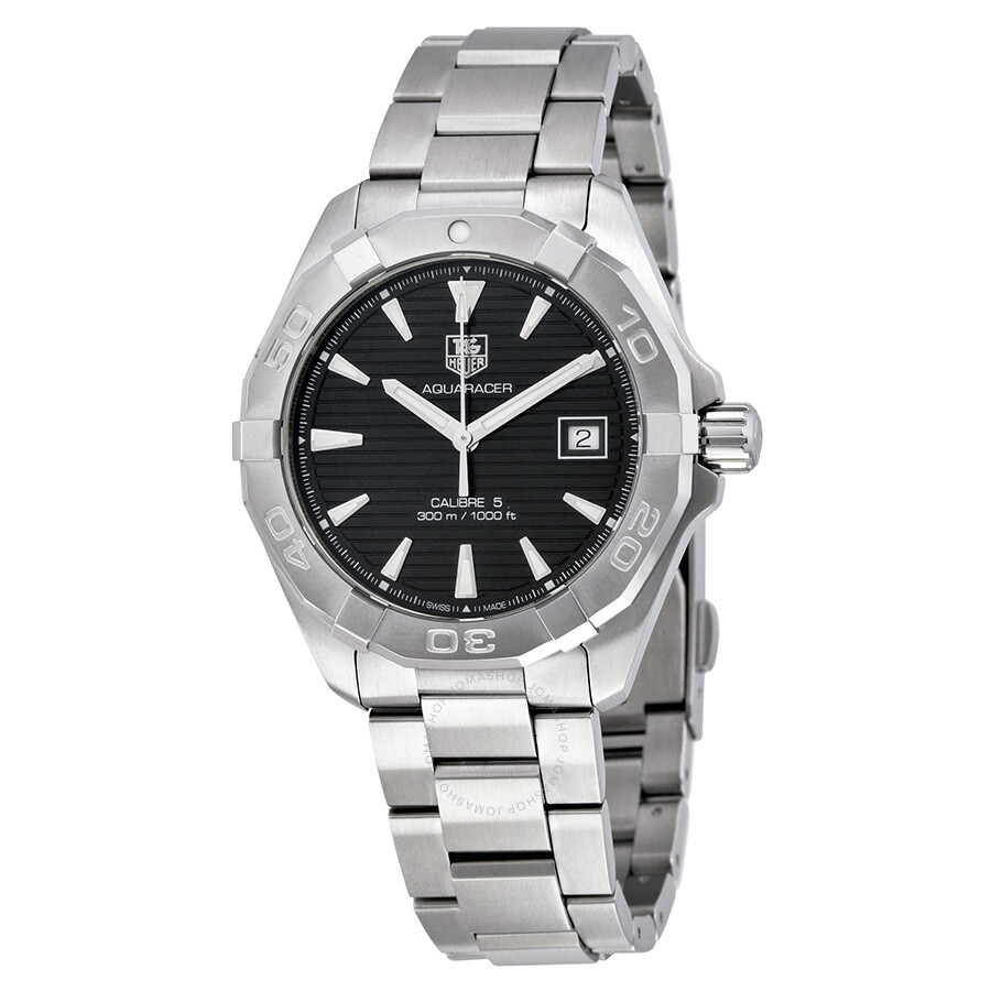 Tag heuer aquaracer automatic black dial men 39 s watch way2110 ba0928 aquaracer tag heuer for Tag heuer automatic