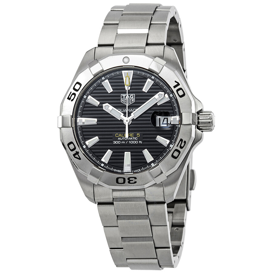 76228226b597 Tag Heuer Aquaracer Automatic Black Sunray Brushed Dial Men's Watch WBD2110.