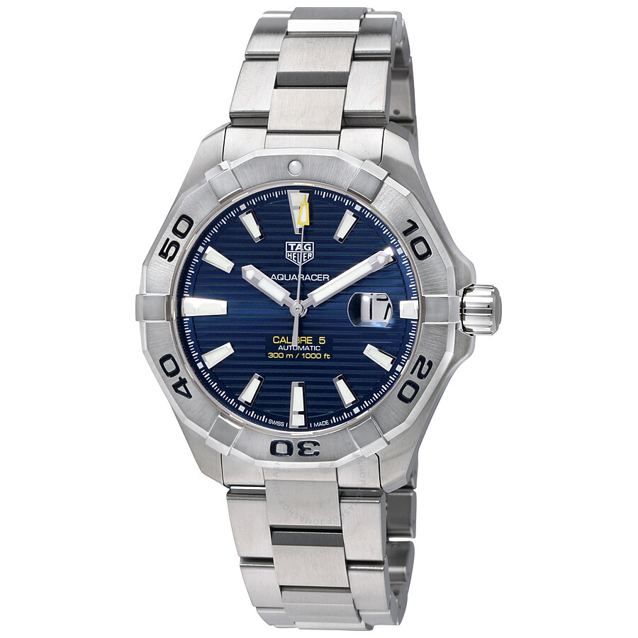 Tag heuer aquaracer automatic blue dial men 39 s watch way2012 ba0927 aquaracer tag heuer for Tag heuer automatic