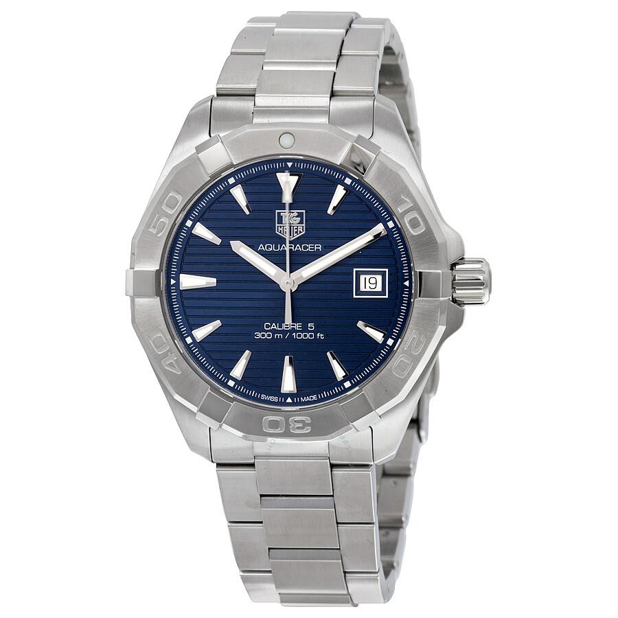 Tag heuer aquaracer automatic blue dial men 39 s watch way2112 ba0928 calibre 5 aquaracer tag for Tag heuer aquaracer