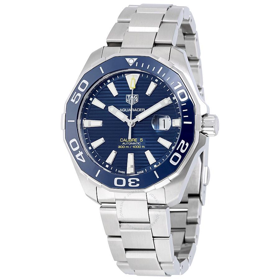 Tag heuer aquaracer automatic blue dial men 39 s watch way201b ba0927 aquaracer tag heuer for Tag heuer aquaracer