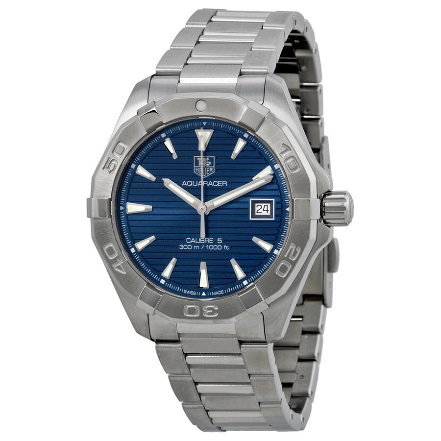 Tag heuer aquaracer automatic blue dial steel men 39 s watch way2112 ba0910 aquaracer tag heuer for Tag heuer automatic