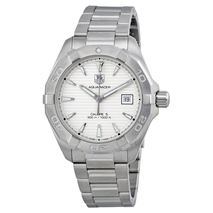 Tag Heuer Aquaracer Automatic Silver Dial Steel Men's ...