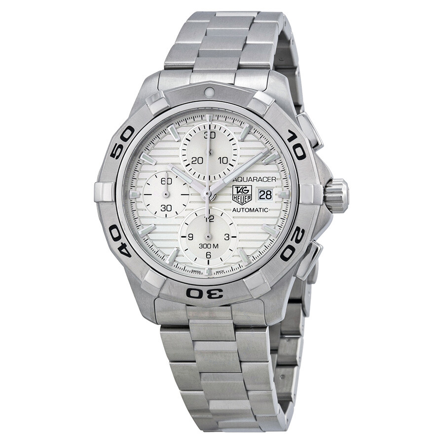 Tag heuer aquaracer chronograph automatic silver dial men 39 s watch cap2111 ba0833 aquaracer for Tag heuer chronograph