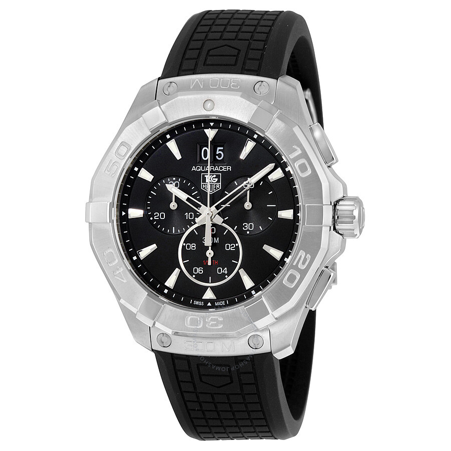 Tag heuer aquaracer chronograph black dial men 39 s watch cay1110 ft6041 aquaracer tag heuer for Tag heuer chronograph