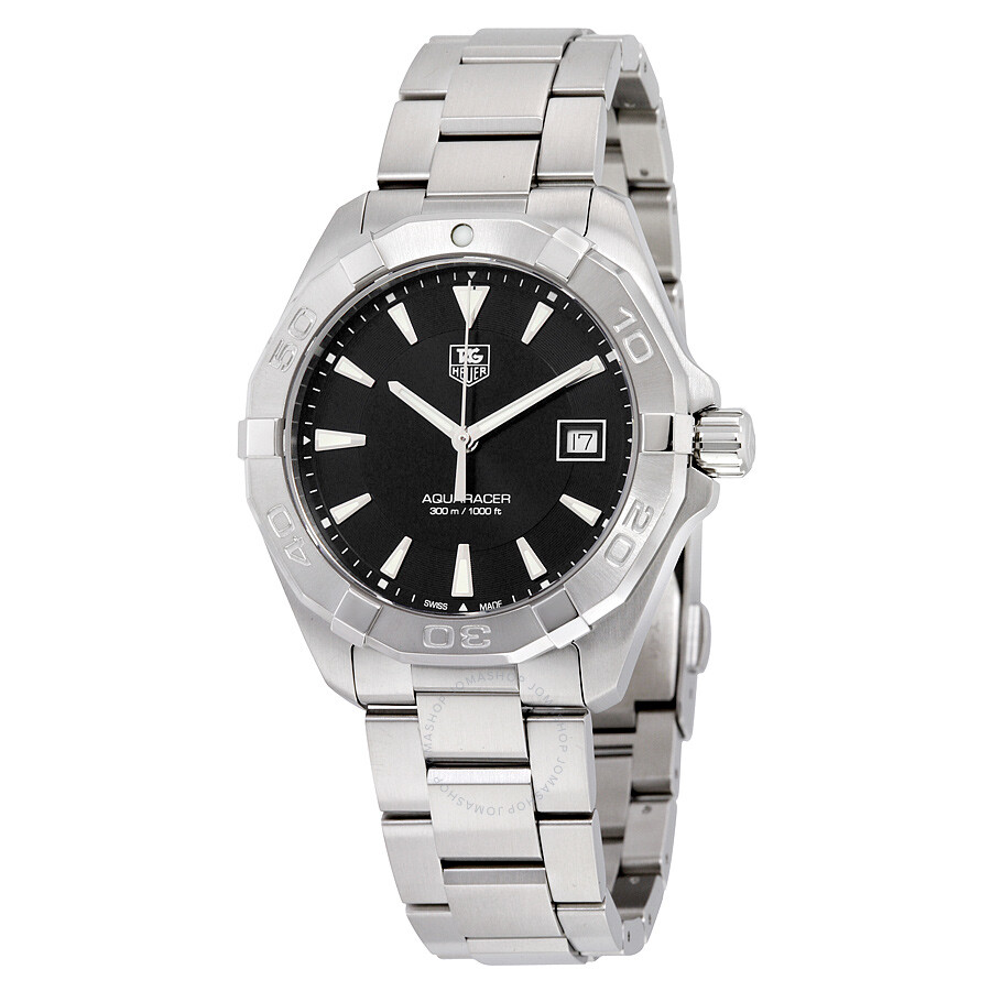 tag heuer aquaracer black dial men 39 s watch way1110 ba0928 aquaracer tag heuer watches