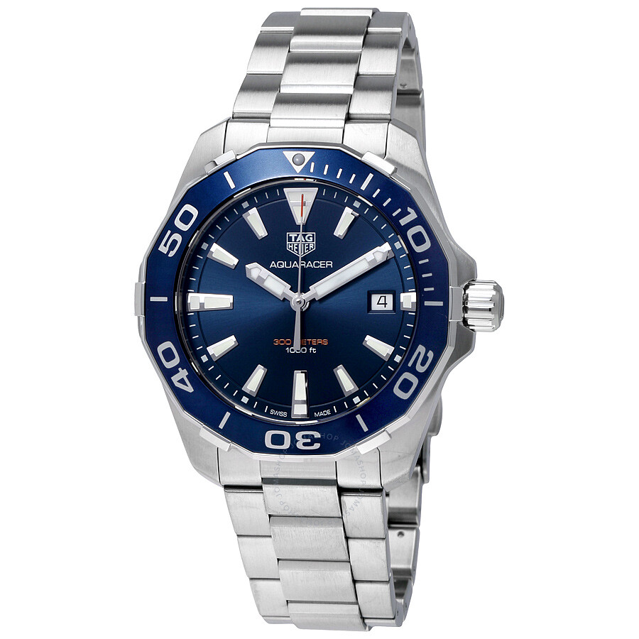 Tag heuer aquaracer blue dial men 39 s watch way111c ba0928 aquaracer tag heuer watches for Tag heuer c flex