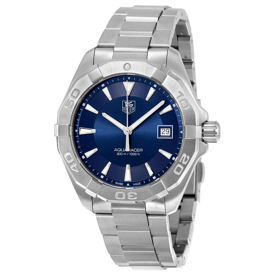 Tag heuer aquaracer blue sunray dial men 39 s watch way1112 ba0928 aquaracer tag heuer for Tag heuer aquaracer