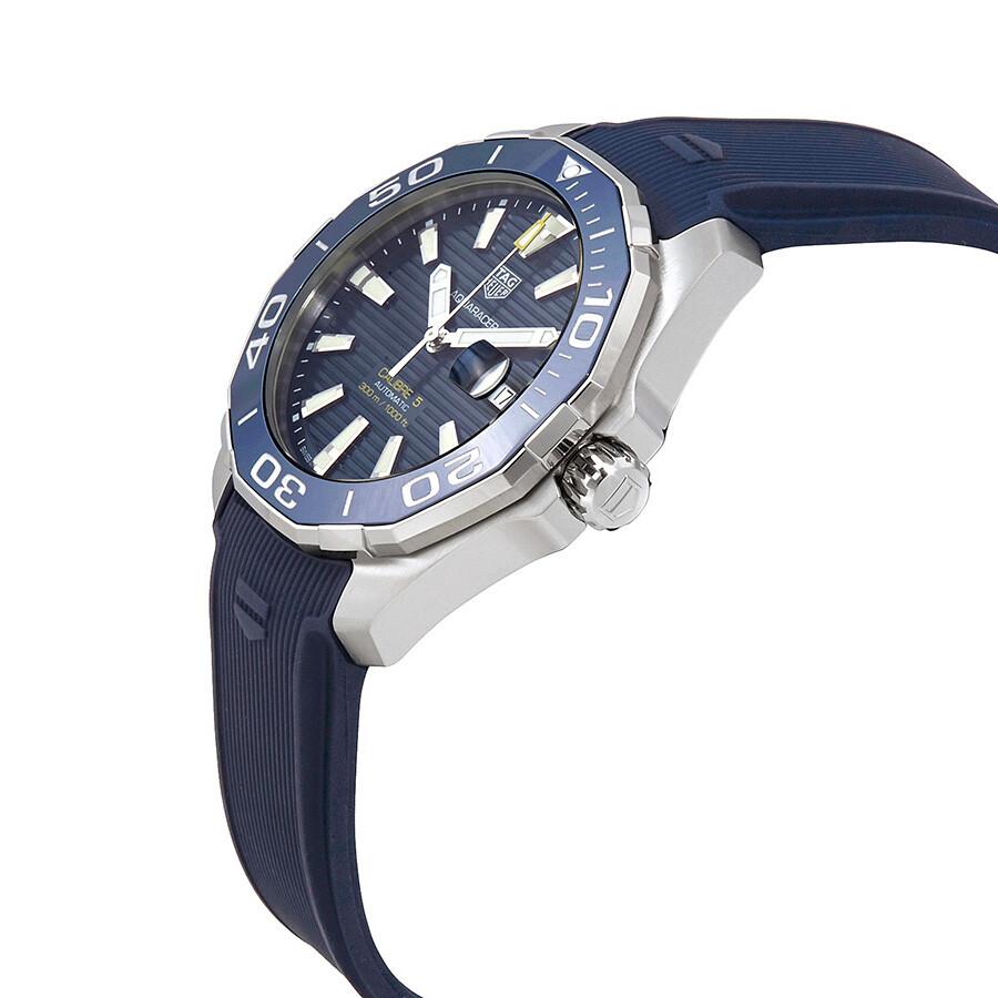 2c1833e440a FT6150 Tag Heuer Aquaracer Calibre 5 Automatic Blue Dial Men s Watch  WAY201B.