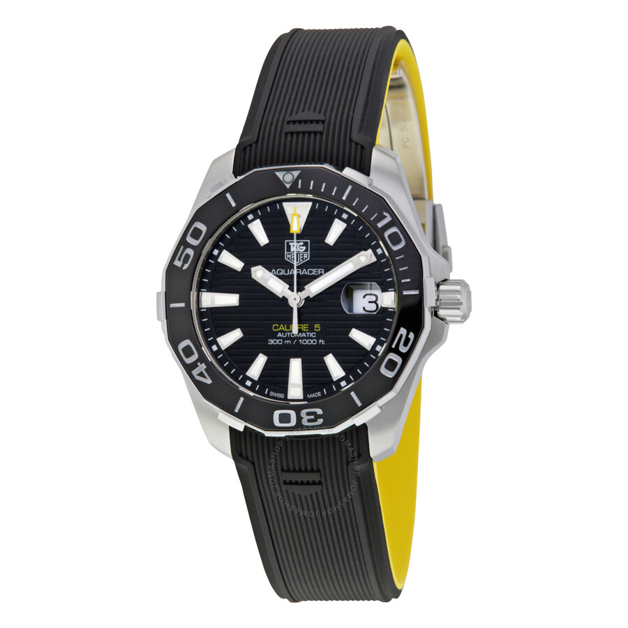 Tag heuer aquaracer automatic men 39 s watch way211a ft6068 calibre 5 aquaracer tag heuer for Tag heuer automatic