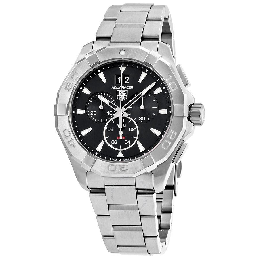 Tag heuer aquaracer chronograph black dial men 39 s watch cay1110 ba0927 aquaracer tag heuer for Tag heuer aquaracer