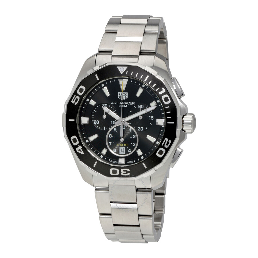 Tag heuer aquaracer chronograph black dial men 39 s watch cay111a ba0927 aquaracer tag heuer for Tag heuer chronograph