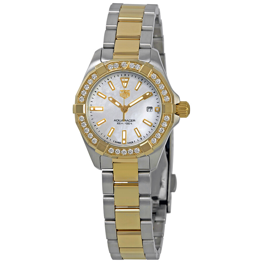 a4a2a380dfafd Tag Heuer Aquaracer Ladies 18K Yellow Gold and Steel Watch WBD1421 ...