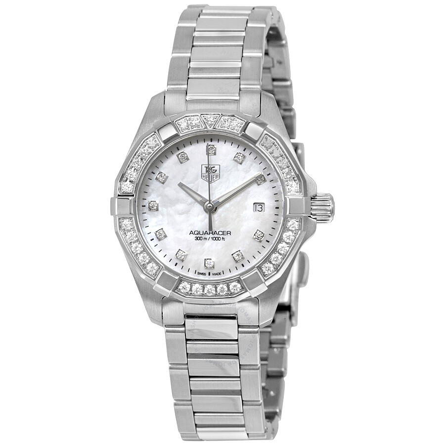 a43321c4d6e Tag Heuer Aquaracer Mother of Pearl Dial Ladies Watch WAY1414.BA0920 ...