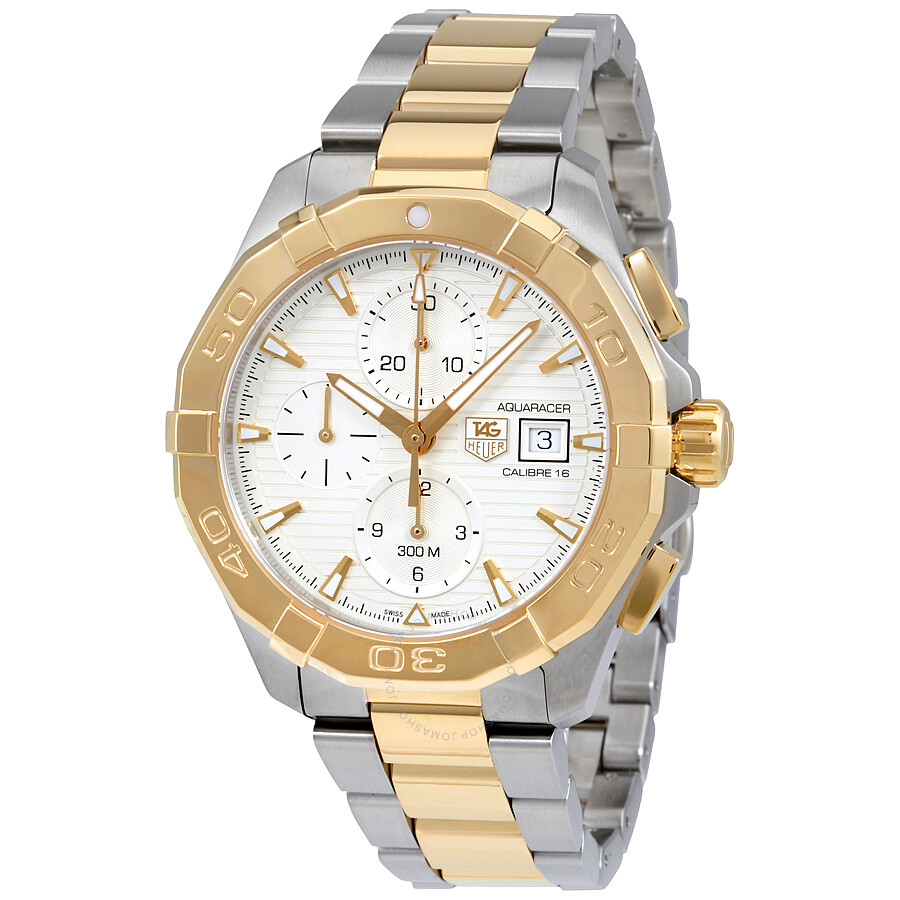 Tag Heuer Aquaracer Chronograph Silver Dial Men's Watch ...