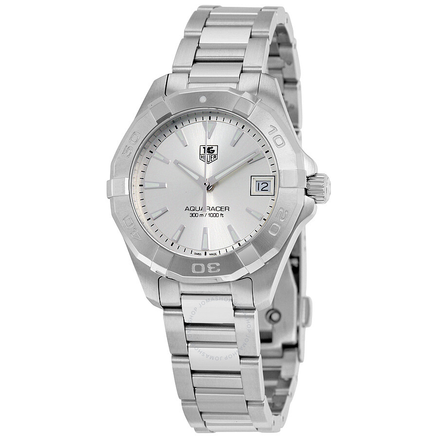 Tag heuer aquaracer silver dial ladies watch way1311 ba0915 aquaracer tag heuer watches for Tag heuer women