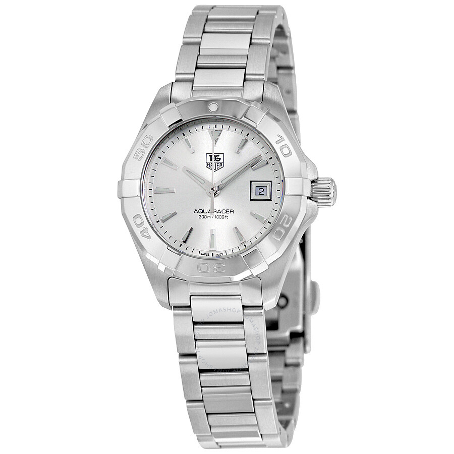 Tag heuer aquaracer silver dial ladies watch way1411 ba0920 aquaracer tag heuer watches for Tag heuer women