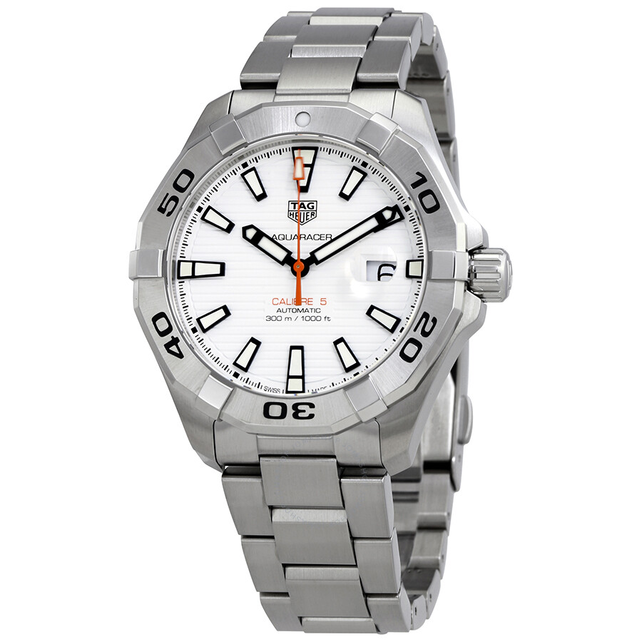 5ab7e7ee6084 Tag Heuer Aquaracer White Dial Automatic Men s Watch WAY2013.BA0927 ...