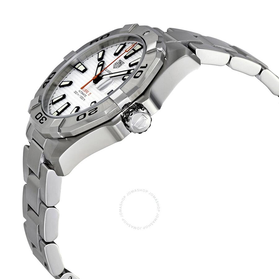 9f3ad658e7ea BA0927 Tag Heuer Aquaracer White Dial Automatic Men s Watch WAY2013.BA0927  ...