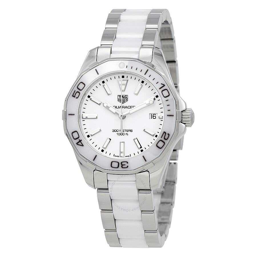 3d6e601bd2c Tag Heuer Aquaracer White Dial Ladies Watch WAY131B.BA0914 ...