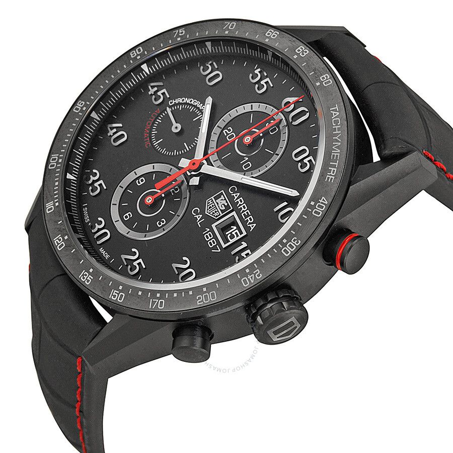 tag heuer carrera 1887 chronograph automatic black dial. Black Bedroom Furniture Sets. Home Design Ideas