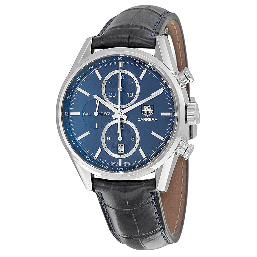 Tag Heuer Carrera 1887 Chronograph Automatic Blue Dial ...
