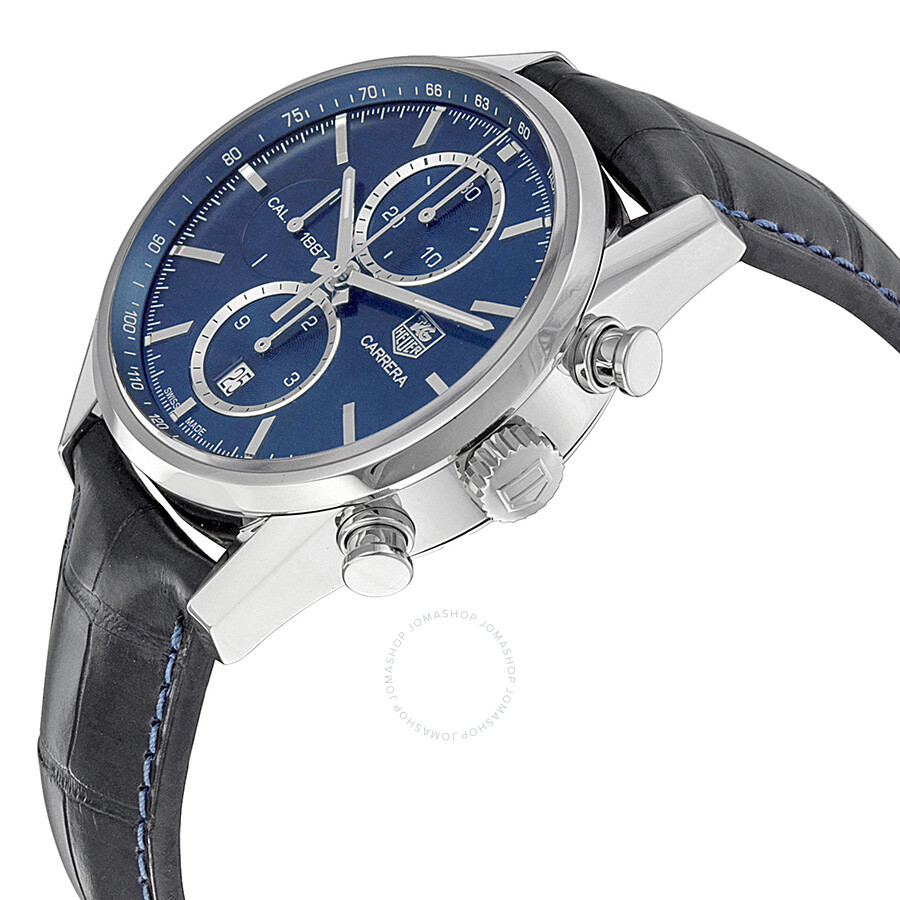 tag heuer carrera 1887 chronograph automatic blue dial. Black Bedroom Furniture Sets. Home Design Ideas