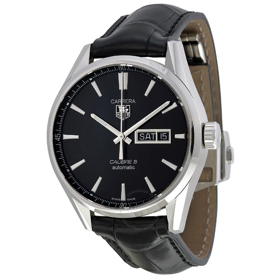 dd95bb4aa518c Tag Heuer Carrera Automatic Black Dial Men s Watch WAR201A.FC6266 ...