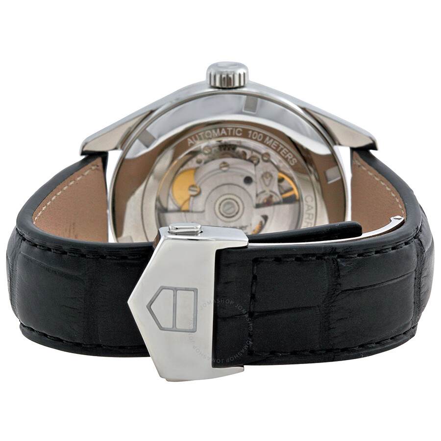 Tag Heuer Carrera Automatic Black Dial Mens Watch War201cfc6266 Space Leather