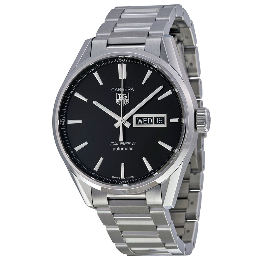 Tag heuer carrera automatic black dial men 39 s watch war201a ba0723 carrera tag heuer for Tag heuer automatic