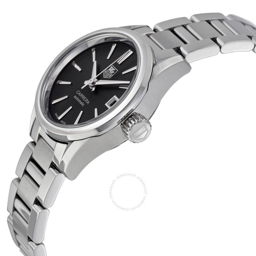 Tag Heuer Carrera Automatic Black Dial Ladies Watch WAR2410.BA0776 ... 98753355c