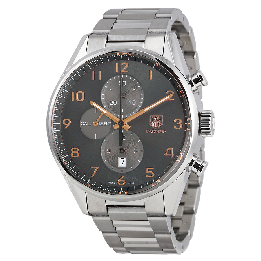 Tag heuer carrera automatic chronograph anthracite dial men 39 s watch car2013 ba0799 carrera for Tag heuer chronograph