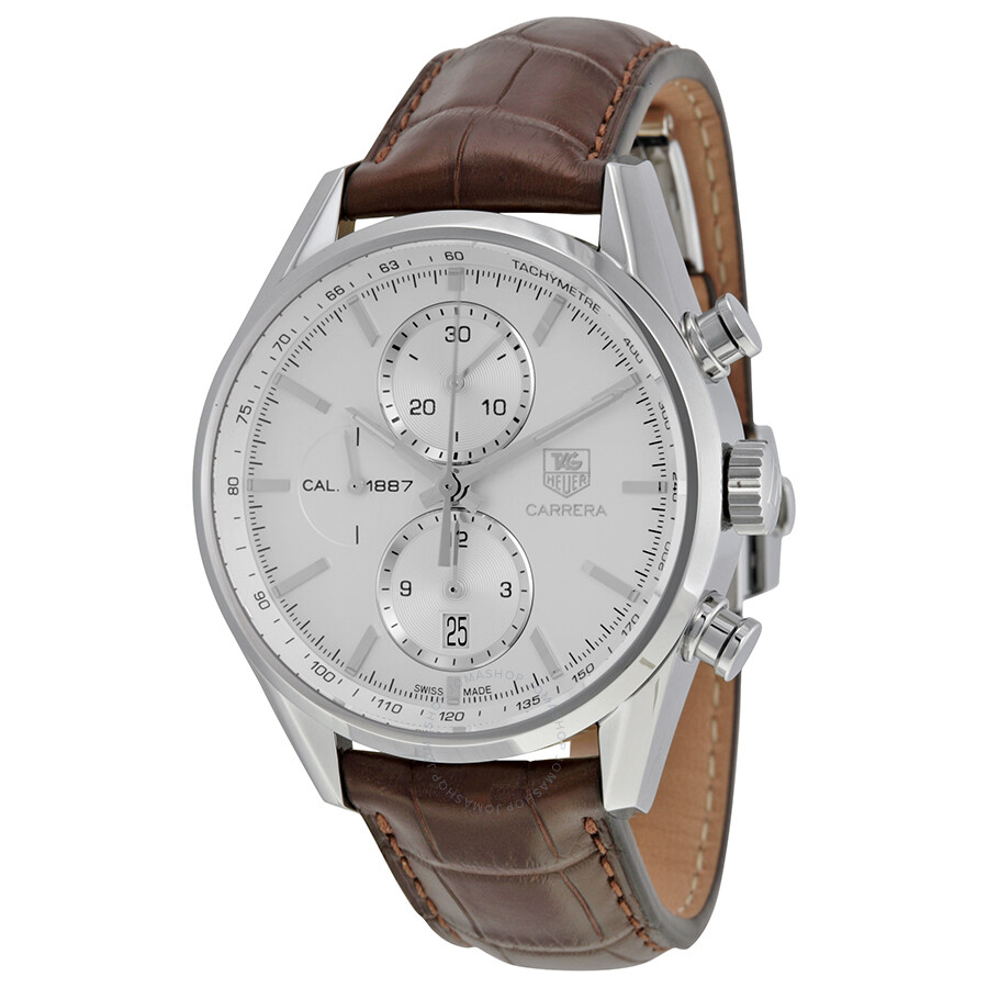 Tag heuer carrera automatic chronograph men 39 s watch car2111 fc6291 carrera tag heuer for Tag heuer automatic