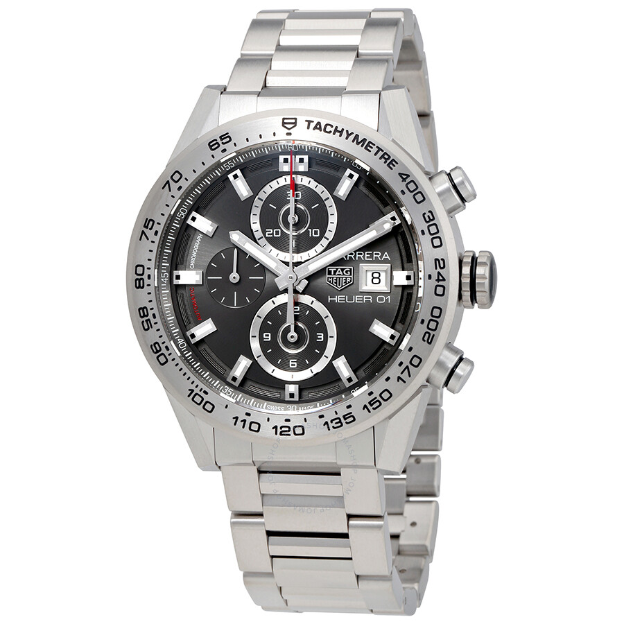 3ff4a0d92c0 Tag Heuer Carrera Chronograph Automatic Grey Dial Men s Watch CAR208Z.