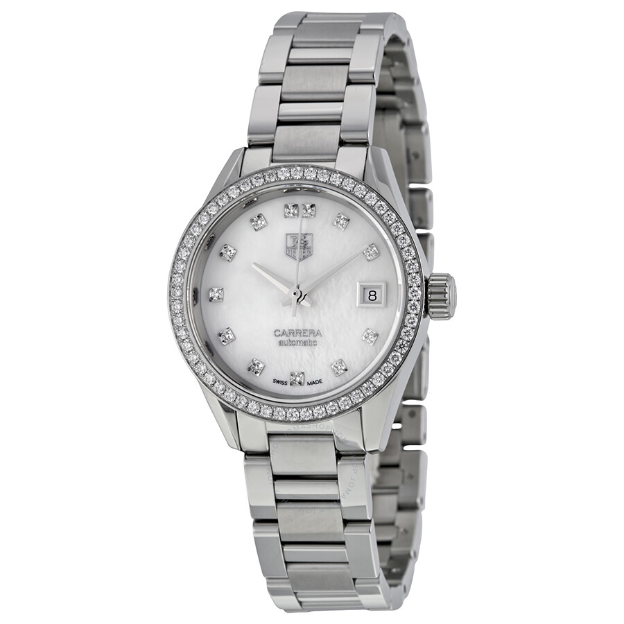 Tag heuer carrera automatic ladies watch war2415 ba0776 carrera tag heuer watches jomashop for Tag heuer automatic