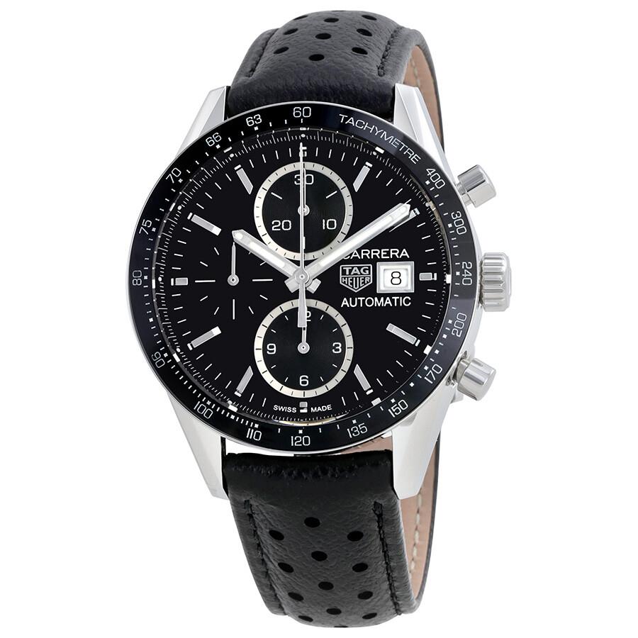 quality design f4c78 bc207 Tag Heuer Carrera Black Dial Automatic Men's Chronograph Watch  CV201AJ.FC6357