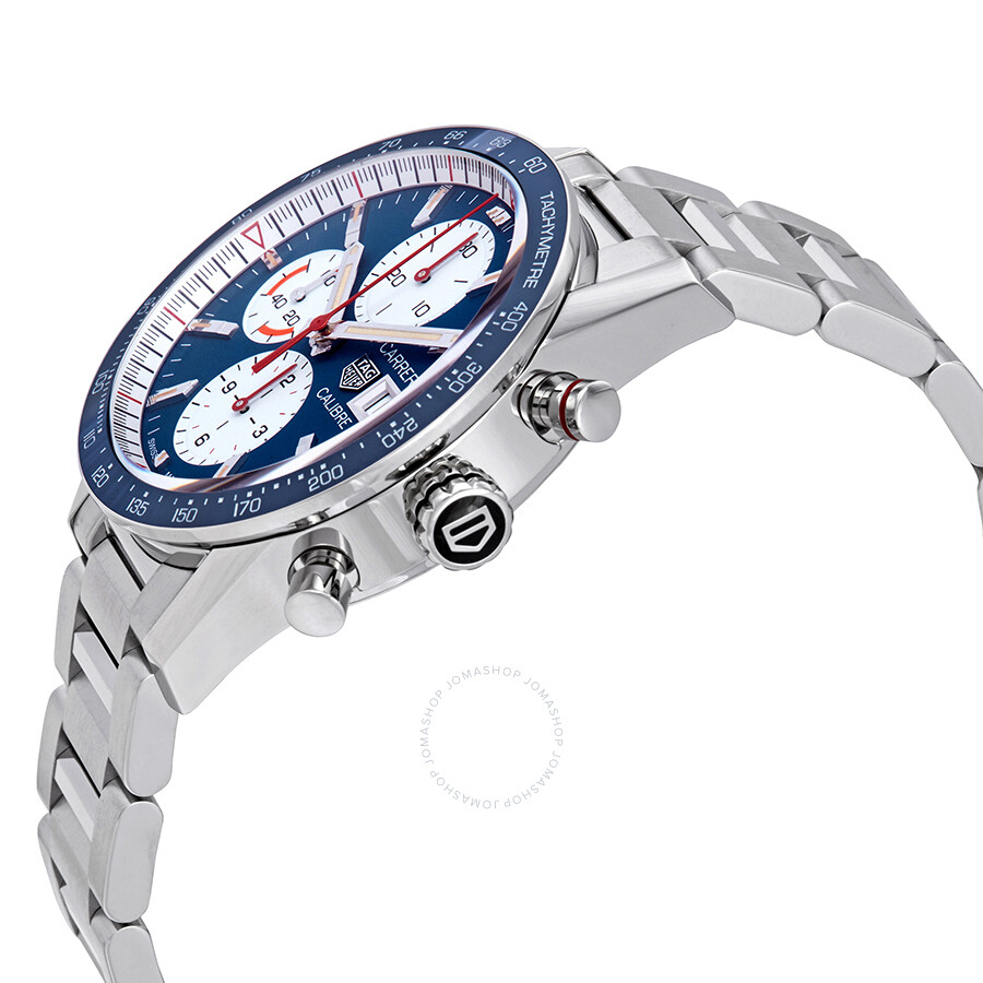 f570d1f8bb496 BA0715 Tag Heuer Carrera Blue Dial Automatic Men s Chronograph Watch  CV201AR.