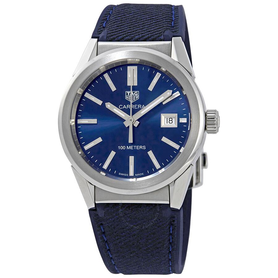 1a818bcd9a1 Tag Heuer Carrera Blue Dial Midsize Watch WBG1310.FT6115 - Carrera ...