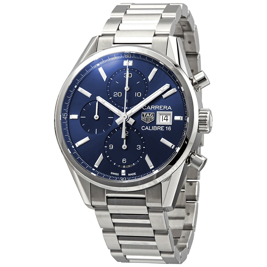 Tag Carrera Watch >> Tag Heuer Carrera Blue Dial Men S Chronograph Watch Cbk2112 Ba0715
