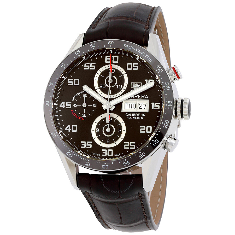 a1fc4834f227e Tag Heuer Carrera Automatic Chronograph Brown Dial Men s Watch CV2A1S.