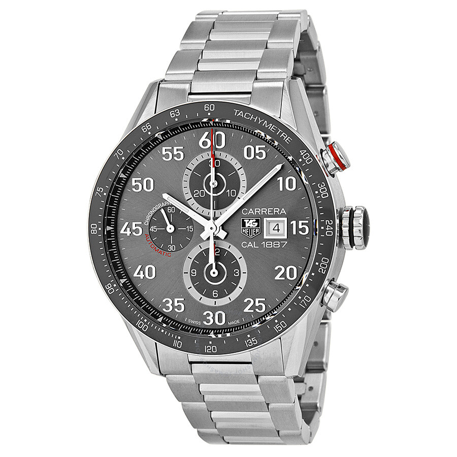 689e5dc8f9d Tag Heuer Carrera Calibre 1887 Automatic Chronograph Grey Dial Stainless  Steel Men's Watch CAR2A11BA0799 ...