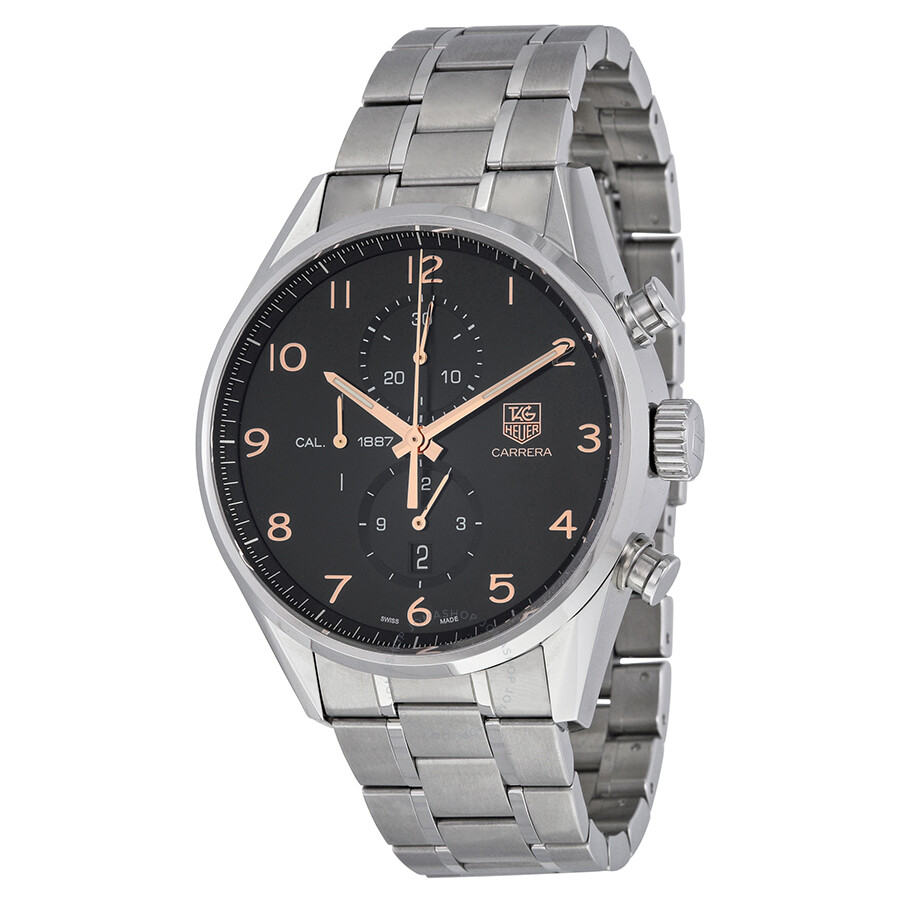 tag heuer carrera calibre 1887 chronograph automatic black. Black Bedroom Furniture Sets. Home Design Ideas